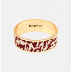 Bracelet Bangle-Up Joy Rouge obscur / Blanc Sable 2 cm