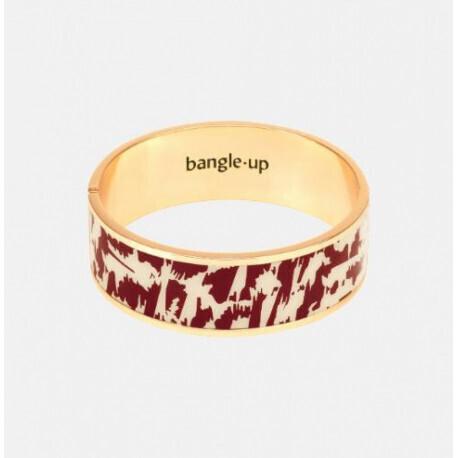 Bracelet Bangle-Up | Rouge obscur / Blanc Sable