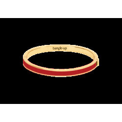 Bracelet Bangle Up rouge velours 0,5 cm