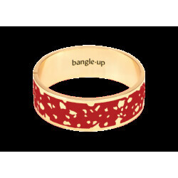Bracelet Bangle-Up Lucy Rouge Velours Taille 1 2cm