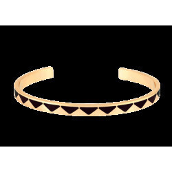 Bracelet Bangle Up Jonc Bollystud noir 0,44 cm