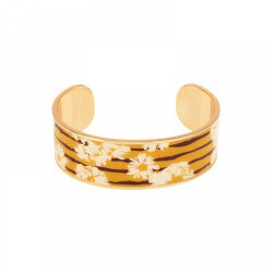Bracelet Jonc Bangle-Up Swann jaune safran 2cm
