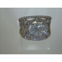 Bague bicolore pavage de diamants