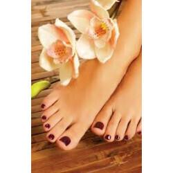 Balnéo-soin des pieds avec mise en beauté des ongles