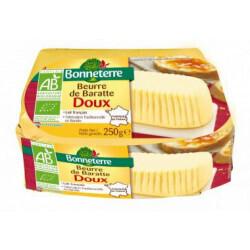 Beurre de baratte doux Bonneterre 250g