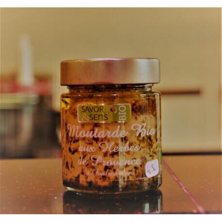 Moutarde Bio saveur noisettes