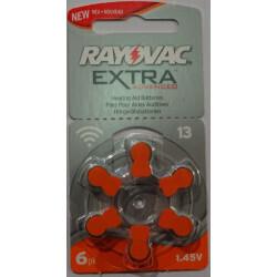 Piles Auditives Rayovac EXTRA ADVANCED P13