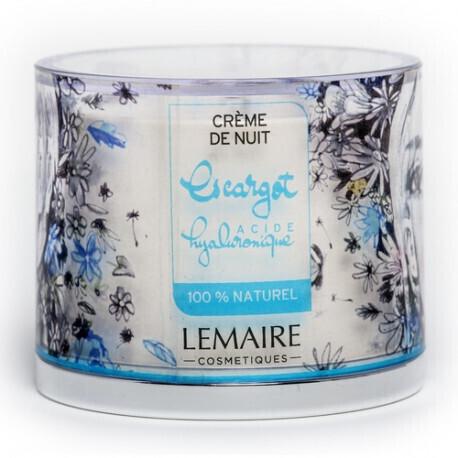 Crème de Nuit Mucus Escargot & Acide Hyaluronique 50 ml - LEMAIRE COSMETIQUES