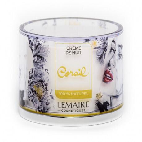 """Crème de Nuit """"Corail"""" - 50ml - LEMAIRE COSMETIQUES"""