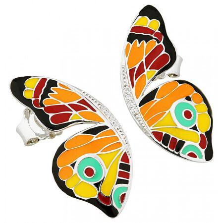 boucles d'oreilles papillon Una Storia. Ref BO121184