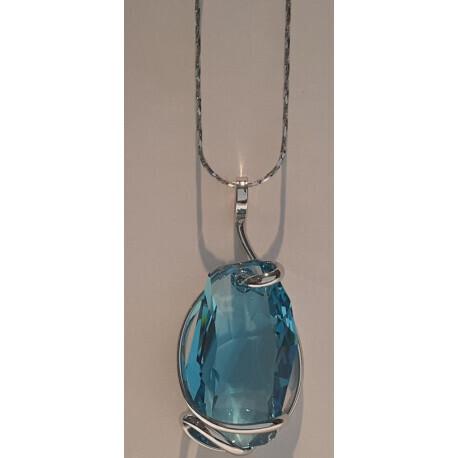 Chaîne pendentif Andrea Marazzini cristal de Swarovski | Bijouterie Martin Lavaquerie