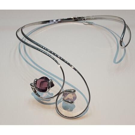 collier torque Marazzini cristal de Swarovski