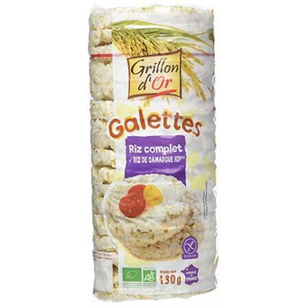 Galettes riz complet au riz de Camargue Grillon d'Or BIO 130g
