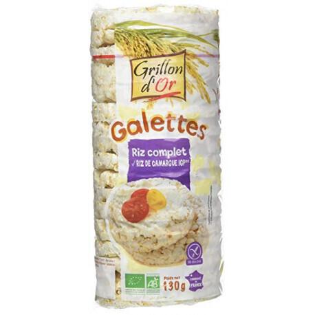 Galettes riz complet au riz de Camargue Grillon d'Or 130g
