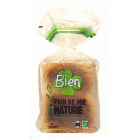 Pain de mie nature tranche Bien 500g | ABC BIO à Marly