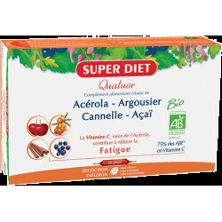 Super Diet quatuor acérola tonique lutter contre la fatigue 300ml