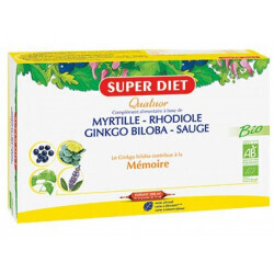 Super Diet quatuor myrtille rhodiole mémoire 300ml