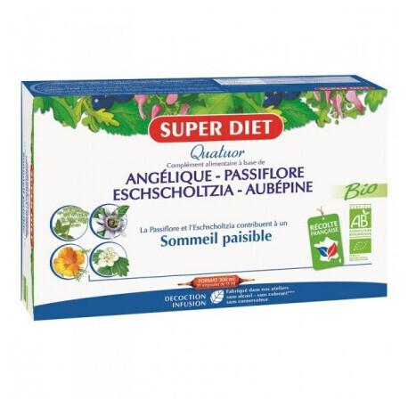 Super Diet quatuor angélique passiflore sommeil paisible 200ml