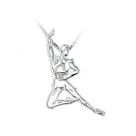 Bijoux danse , pendentif danseur classique Sissones Swan Lake