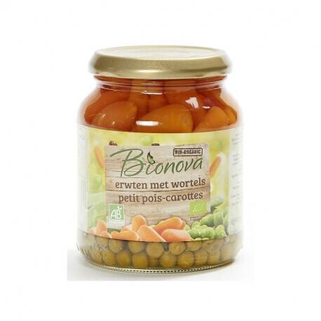Petits pois carottes Bionova 340g