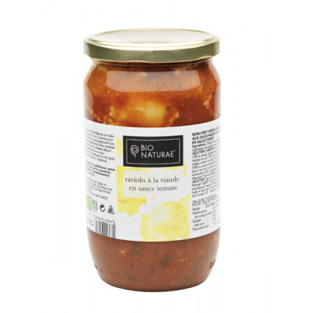 Raviolis bœuf et sauce tomates Bionaturae 670g