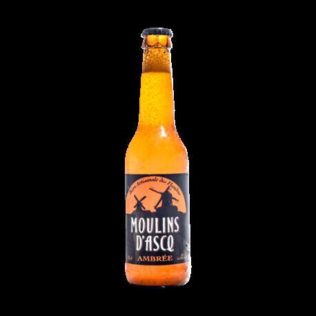 Bière ambrée Moulins d'Ascq 33cl