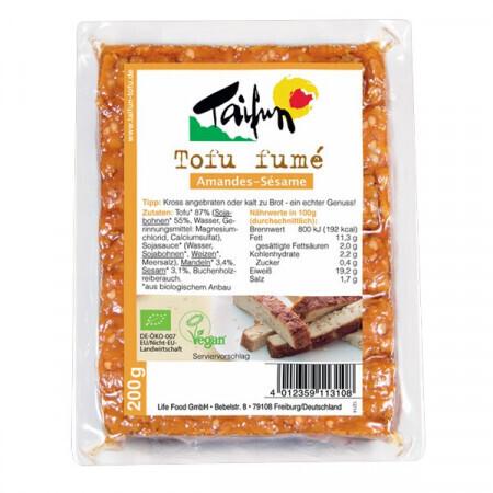 Tofu bio fumé amandes sésame Taifun | ABC BIO à Marly