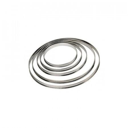 Cercle à tarte bord roulé inox