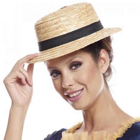 chapeau canotier adulte