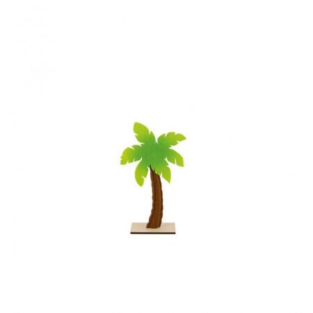 Palmier feutre sur pied bois 21/36.5cm