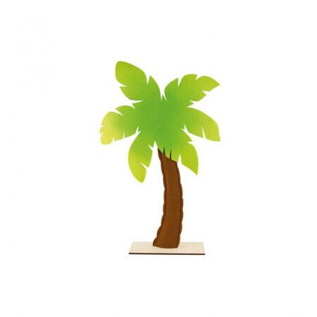 Palmier feutre sur pied bois 41/71cm