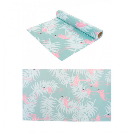 Chemin de table tissu flamant rose 28cmx5m