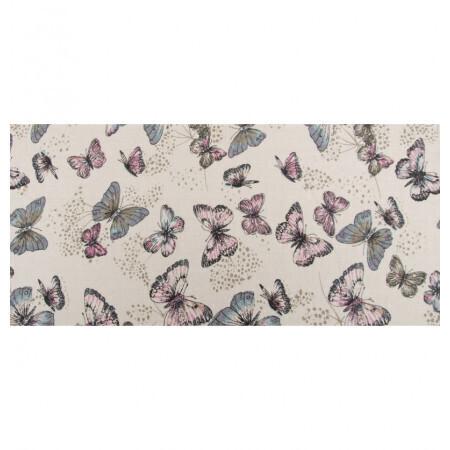 Chemin de table lin papillons 28cmx5m