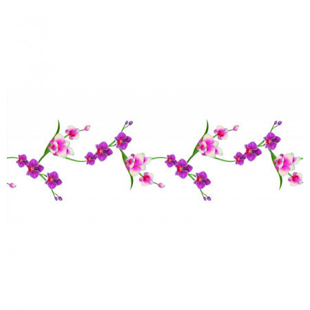 Chemin de table romance orchidées 30cmx5m