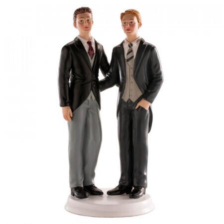 Couple mariés hommes 19cm