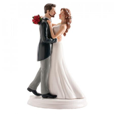 Couple de mariés dansant la valse 21cm