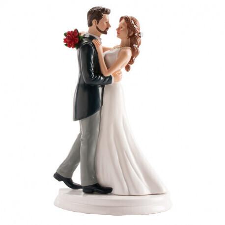 Couple de mariés dansant la valse 20cm