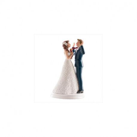 Couple de mariage mains en l'air 20cm