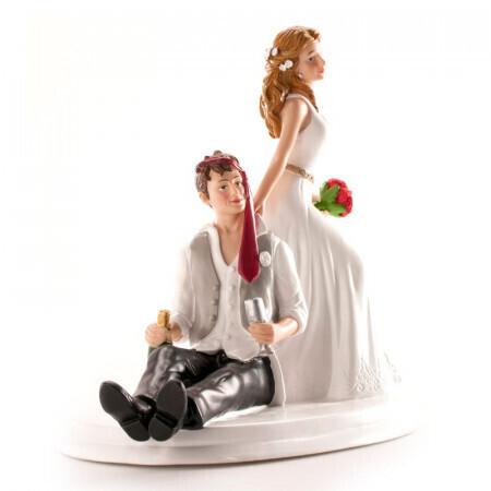 Couple mariés éméchés 14cm