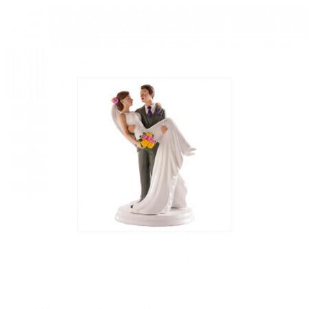 Sujet mariage mariée dans les bras 20cm