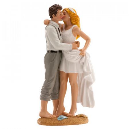 Couple de mariage à la plage 16cm