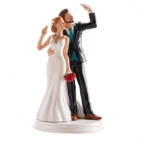Couple de mariés selfie 20cm