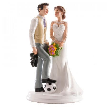 Couple de mariage football 18cm