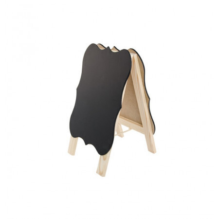 Marque place ardoise support bois 15.5x25.5x2.5cm