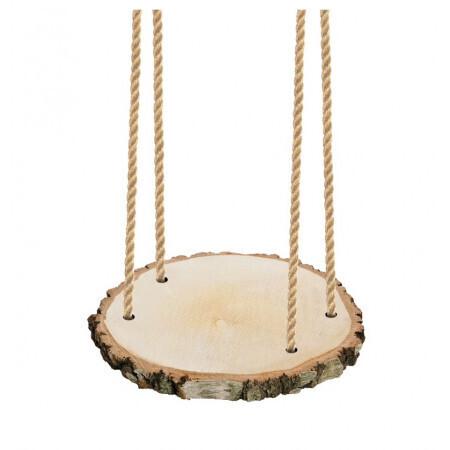 Suspension bois 30x2cm avec corde