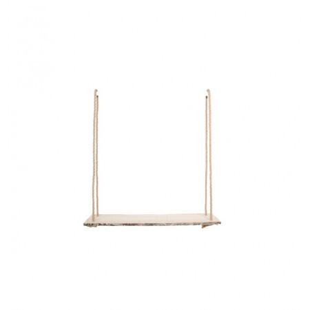 Support bois cordes en jute 60x15.5cm