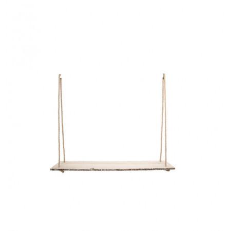 Support bois cordes en jute 80x21x62cm