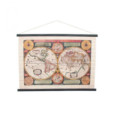 Kakemono mappemonde 104x1.5x72cm