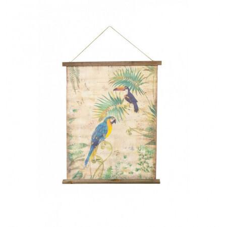 Kakemono perroquet toucan 58x1.2x72.5cm