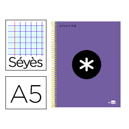 Cahier spirale A5 240 pages seyes LIDERPAPEL